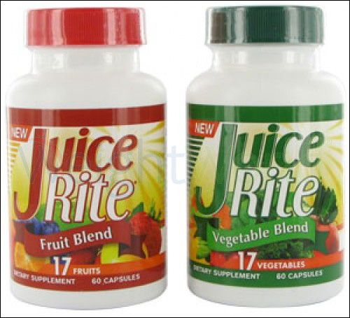 This Vegetarian and vegan friendly Juice-Rite Fruit & Veg 1200 mg capsules that contain a highly concentrated mix of 17 varieties is available at Weight World for just £21.