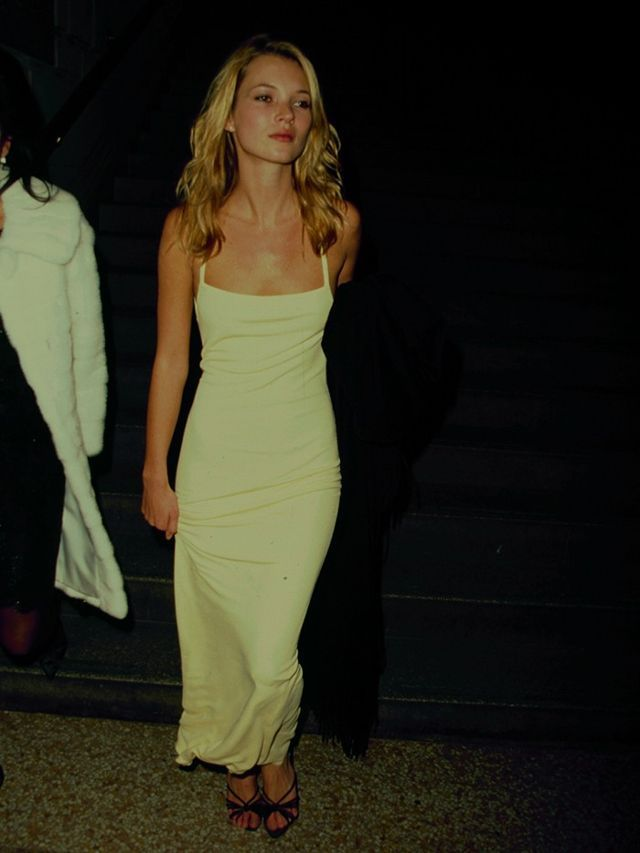 Robe jaune kate moss