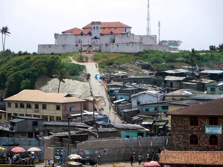 The Dutch built the Fort St. Jago (1652) at Elmina, Ghana, to control the landward approach to their main base at St. George's Castle.