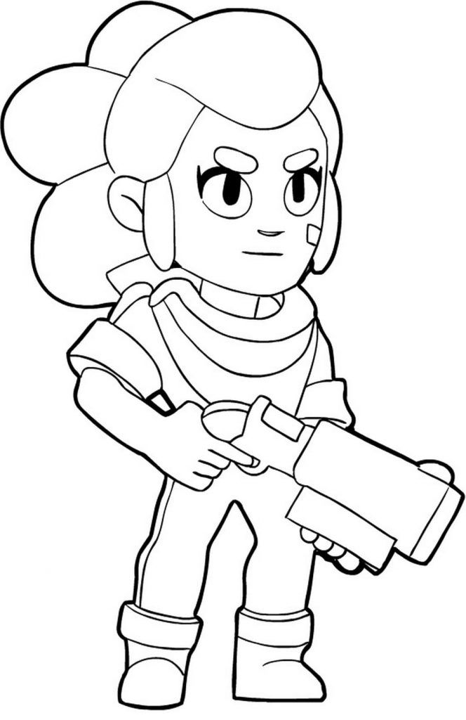 Brawl Stars Ausmalbilder | Star coloring pages, Cartoon ...