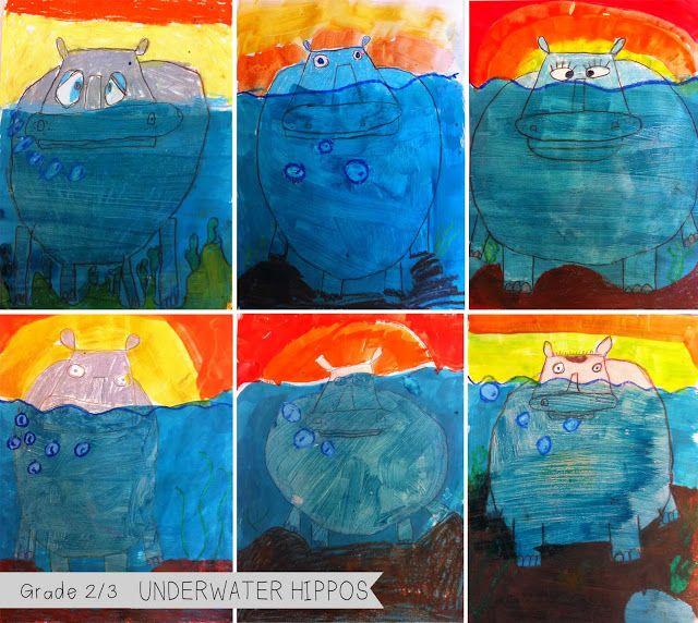 artisan des arts: Grade 2/3 Underwater Hippos