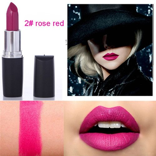 Hot Sales Sexy Matte Lipstick Brands Water-resistant Lip Stick Gold Nude Lipstick Makeup Lipgloss Wow Lips For Women Ladies