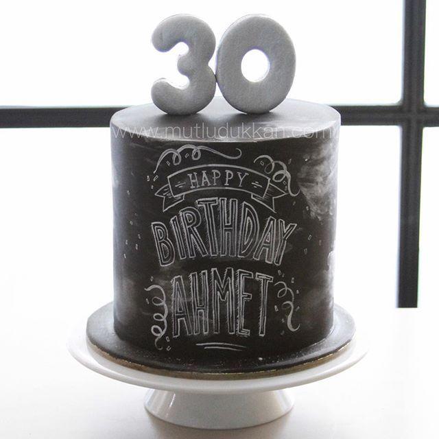 30th b.day chalkboard cake                                                                                                                                                                                 Más
