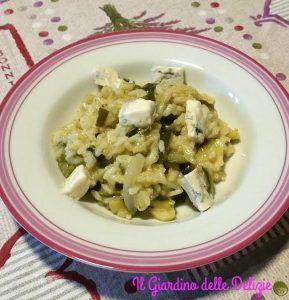 Riso cremoso di zucchine e gorgonzola