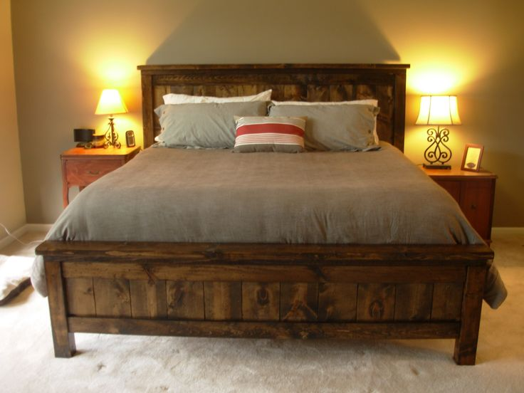 I love this stain for this farmhouse bed.