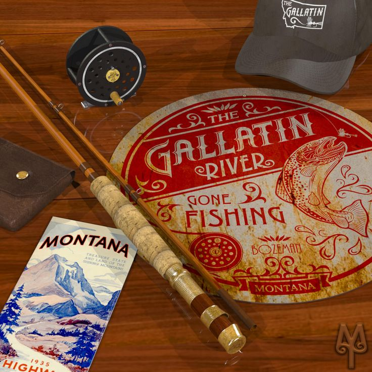 If you're in love with fly fishing then you're probably in love with the Gallatin River. Show your pride in this blue ribbon trout stream by hanging a Vintage 'Gallatin River Gone Fishing' wall sign in man cave, today. Shop now!