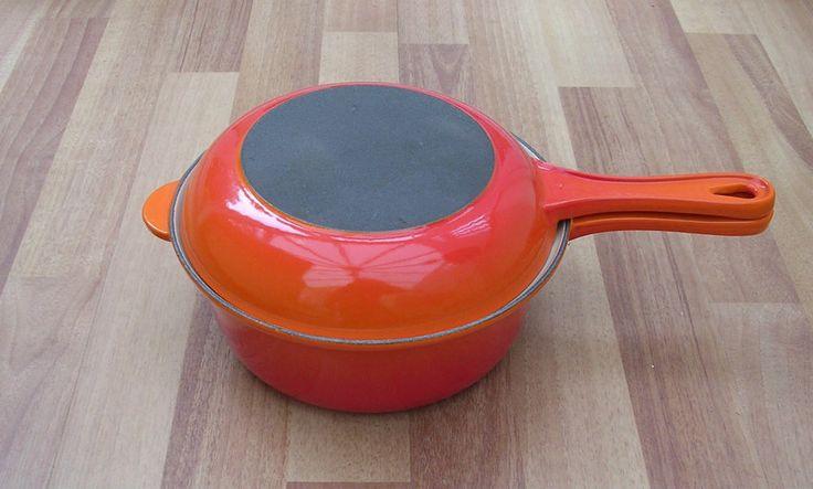 Le Crueset cast iron saucepan and frypan set (such a useful little set!)