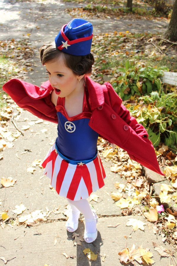 So adorable!!! Lil' WWII USO girl. To go with captin America big bro!