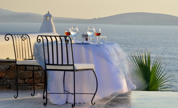 Located on north west part of the resort. Photo taken from one of the suites with private pool- Mykonos Grand Hotel & Resort