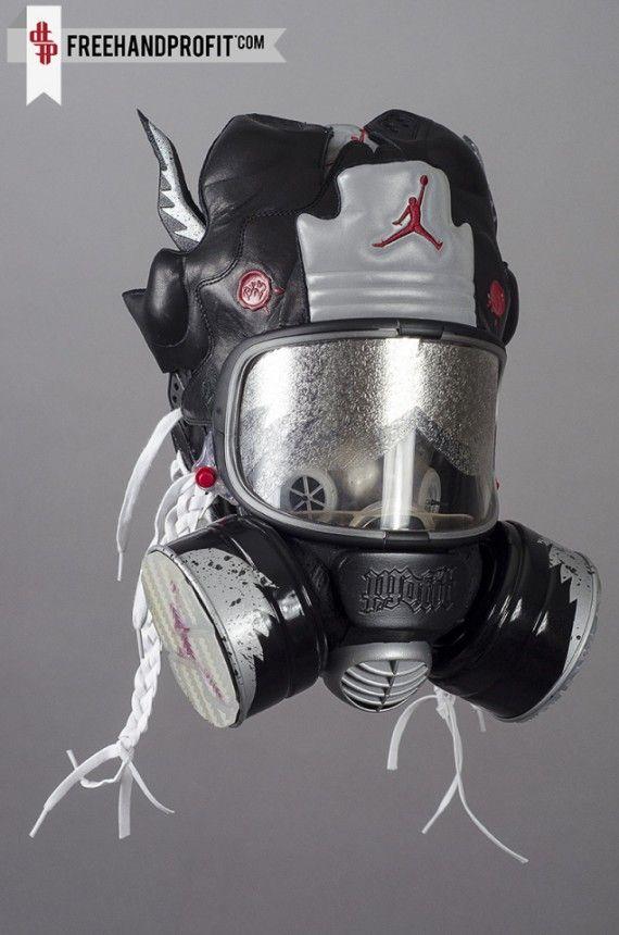 Air Jordan V Bin 23 Gas Mask by Freehand Profit