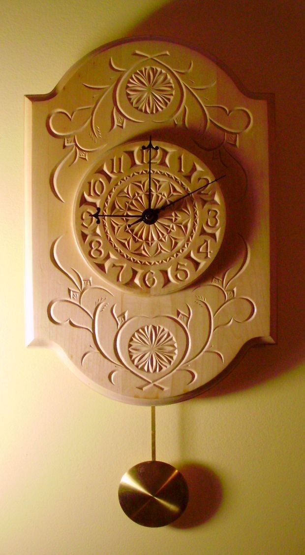 Reloj de péndulo chip-tallado hermoso por miraclechicken en Etsy
