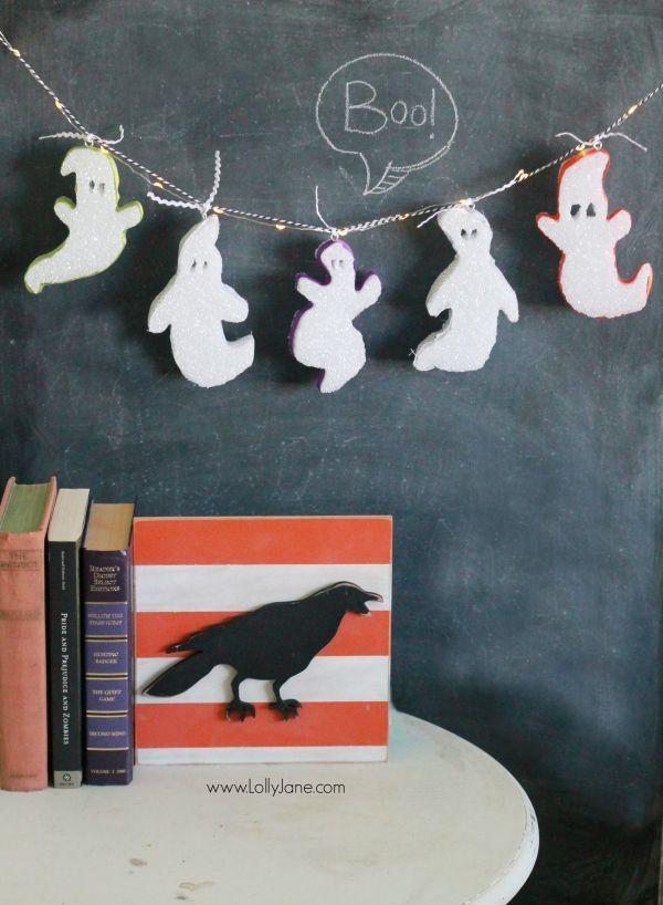 Cute foam ghost bunting tutorial, kids will love it!