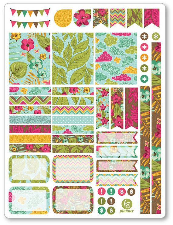 Aloha Decorating Kit / Weekly Spread Planner by PlannerPenny