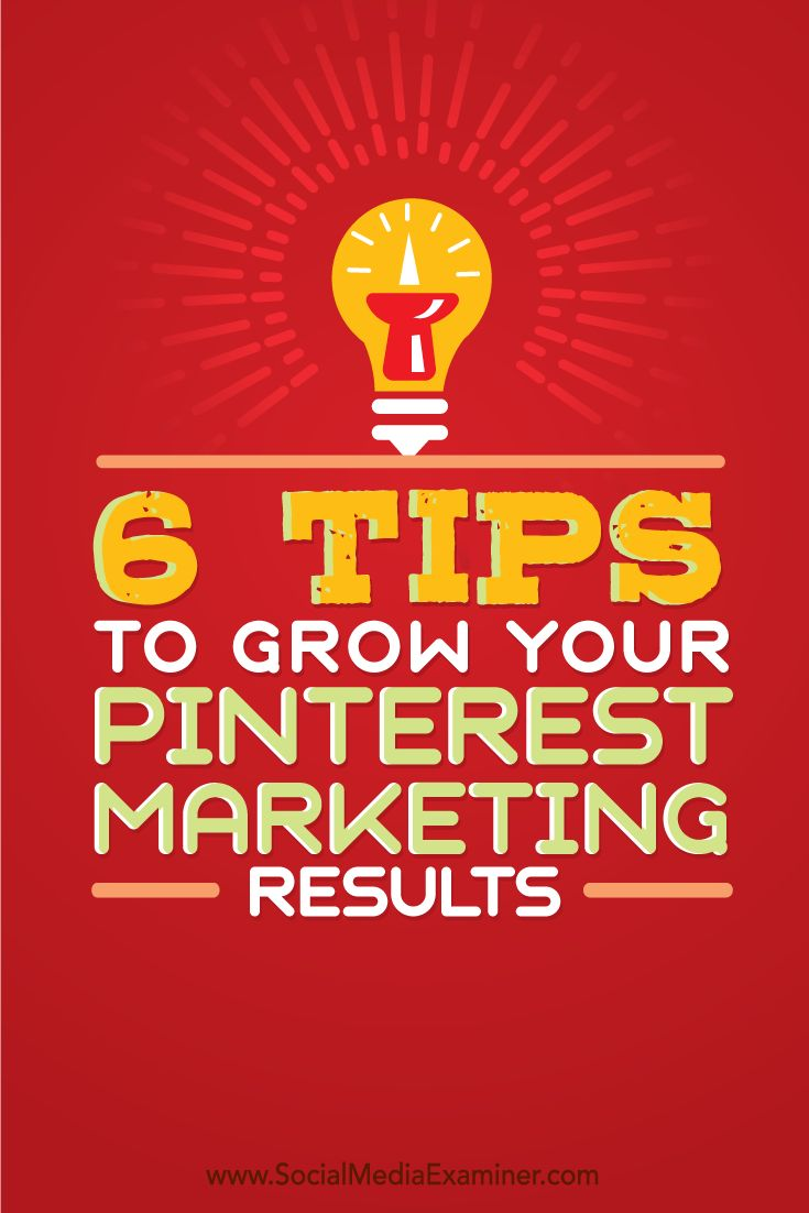 Is your Pinterest account working for you?  Tailoring your profile, boards and pins to appeal to your target audience will grow your followers and increase engagement.  In this article you'll discover six ways to improve your Pinterest marketing. Via @smexaminer