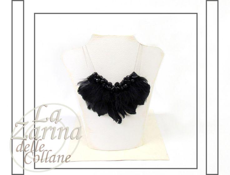 """Gioielli+di+Piume:+collana+statement+-+""""Edith""""+di+La+Zarina+delle+Collane+su+DaWanda.com"""