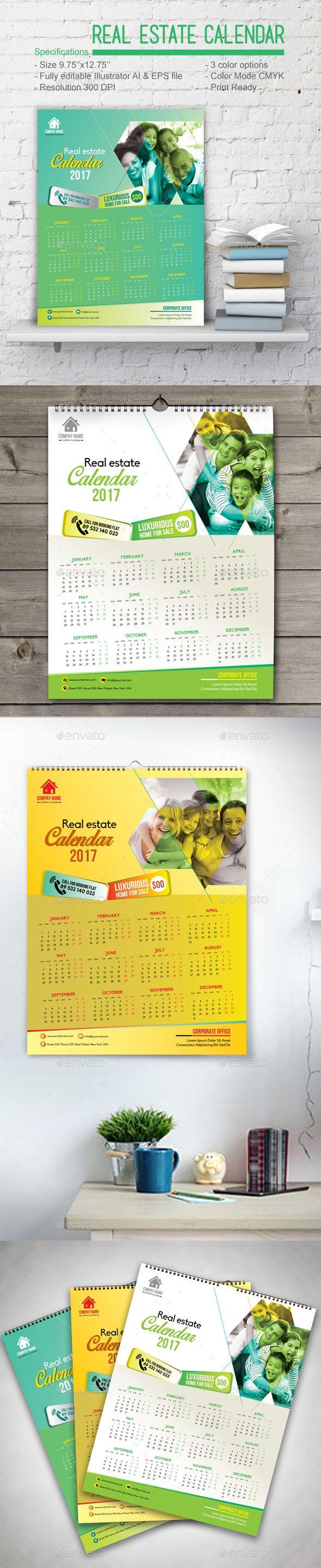Real Estate Calendar - Calendars Stationery