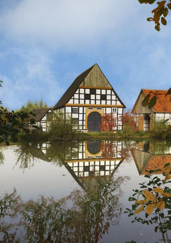 Westphalien Open-Air Museum in Detmold - Germany - The largest open-air museum in Europe. The museum has over 90 furnished buildings.