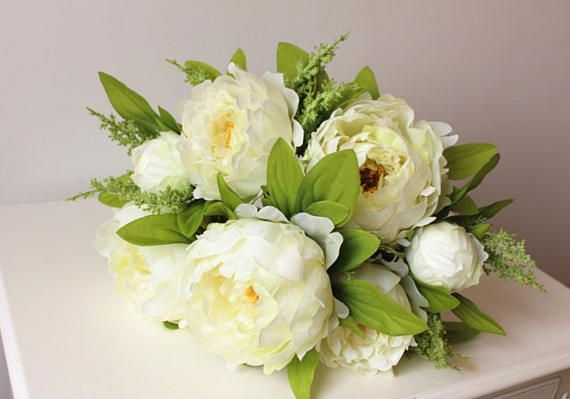 PRE-ORDER Luxe Artificial Peony Bouquet White Green Pink