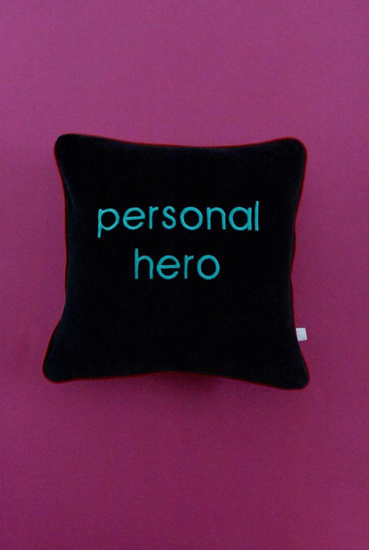 #personalhero embroidery at customised velvet cushion <3