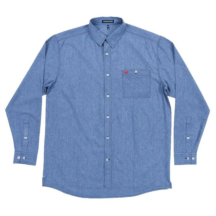 West End Performance Woven Dress Shirt in French Blue by Southern Marsh