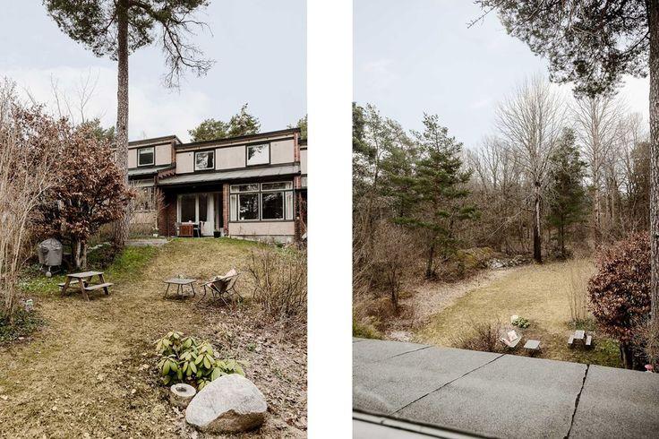 Till höger - Utsikt från sovrumsfönstret. Riksrådsvägen 91 - Bjurfors