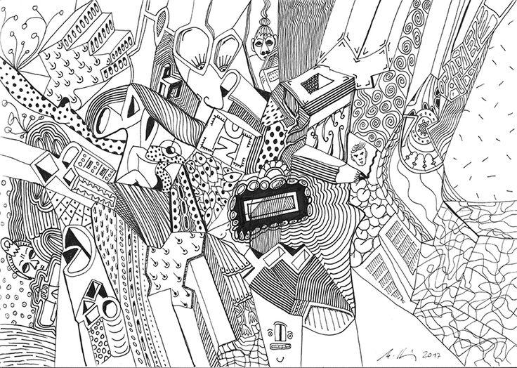 """""""no limits"""", #Zeichnung #Pigmenttusche (Staedtler Pigment Fineliner) auf #Hahnemühle #Papier """"Nostalgie"""", 190 g/m2 21 x 29,7 cm, © #matthias #hennig 2017    """"no limits"""", #india #ink #drawing (Staedtler Pigment Fineliner) on Hahnemühle #paper """"Nostalgie"""",190 g/sqm 21 x 29,7cm, © #matthias #hennig 2017 #myStaedtler #hennigdesign #artwork #moremoneyforartists #whatsnext"""
