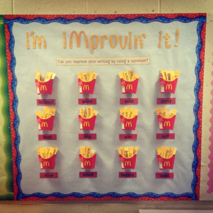Mcdonalds Inspired Synonym Display School Stuff