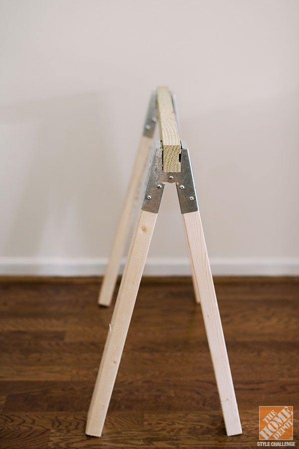 Best 25 diy sawhorse ideas on pinterest folding Sawhorse desk legs