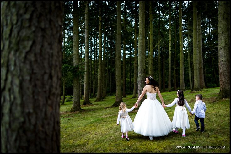 Quick walk in the woods before this Woodland Wedding -