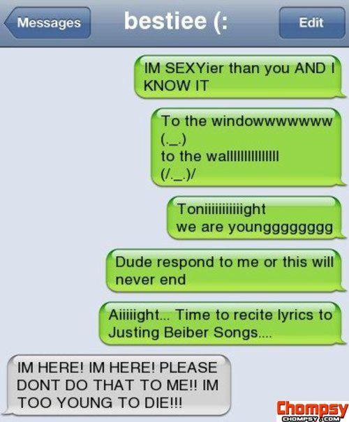 Justin Bieber sms