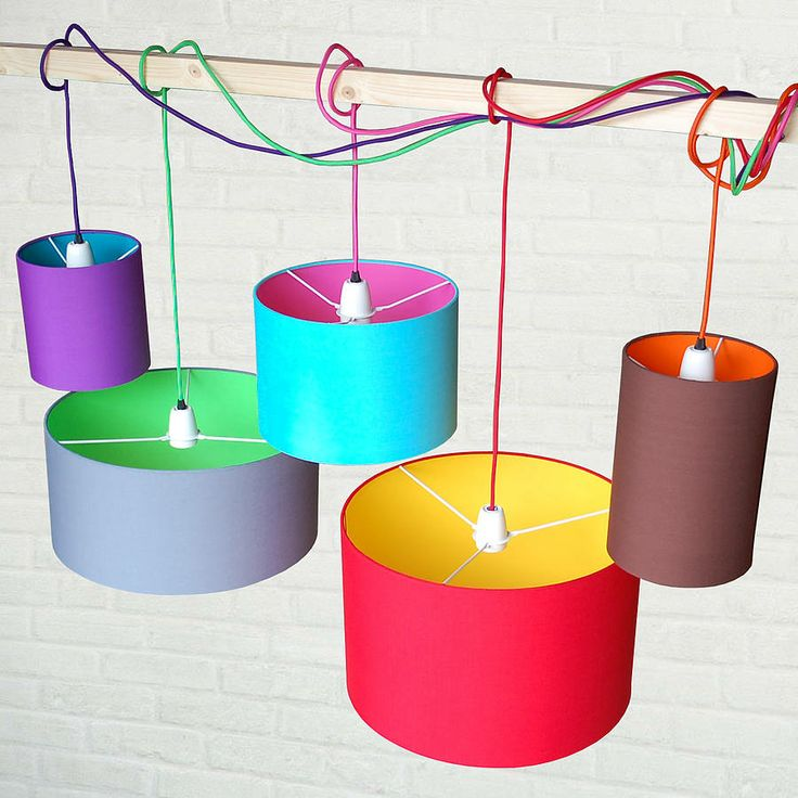 pick n mix drum lampshade by quirk | notonthehighstreet.com