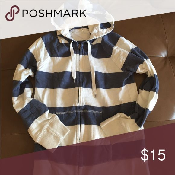 Nautical zip up hoodie Gently worn but in great condition- great for the beach or a cool night J. Crew Tops Sweatshirts & Hoodies