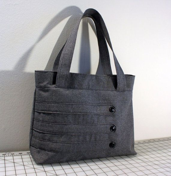 Customizable Medium Tote Bag with Decorative Straps -- Choose Your Color -- FREE SHIPPING