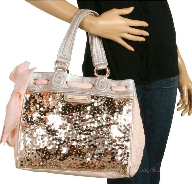 ♛ Juicy Couture purse♛ Have it, but it's all gold w/ gold & silver sequins! Love it!