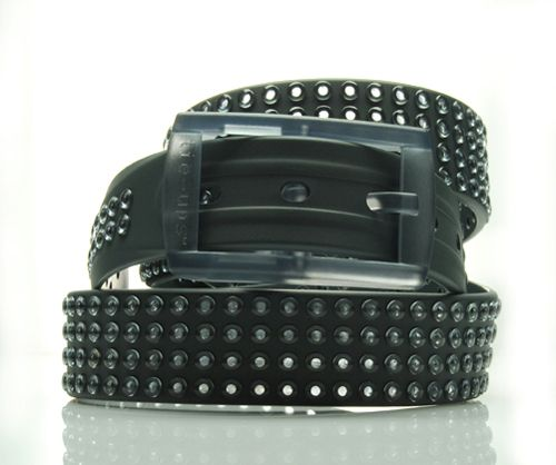 tie-ups Glam Pins Grey Rover. The first studded recyclable belt. www.tie-ups.com