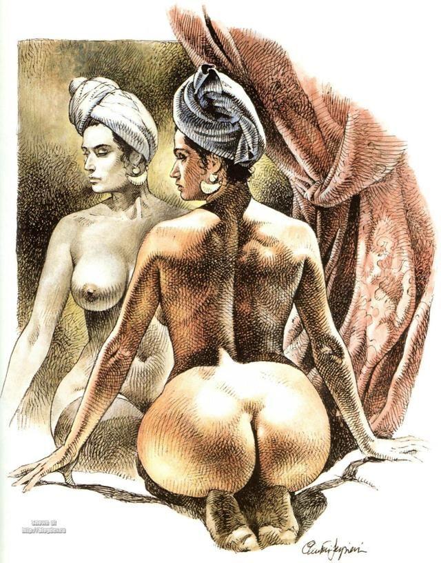 Comic cartoon drawn erotic x
