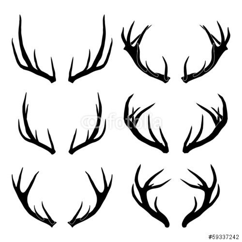 stag antlers silhouette - reference