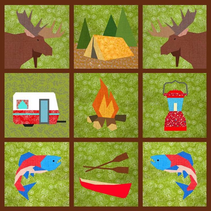 8 best Paper piecing images on Pinterest | Bird quilt blocks ... : camping quilt - Adamdwight.com