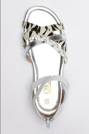 Ellos Shoes Remsandal med djurmönster
