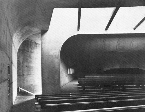 [This whole Tumblr page is stunning.]  Church of St. Bernadette du Banlay, Nevers, France, 1963-66  (Claude Parent & Paul Virilio)