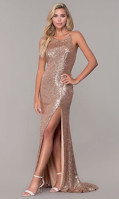 ed5db40131a1 Dave and Johnny Sequin Long Prom Dress in 2019 | Prom | Prom dresses ...