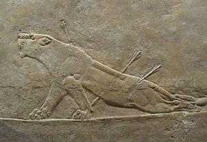 Рельеф из дворца Ашшурбанипала в Ниневии. 640 г. до н.э.