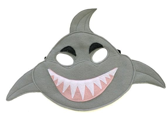 Children's SHARK Felt Mask