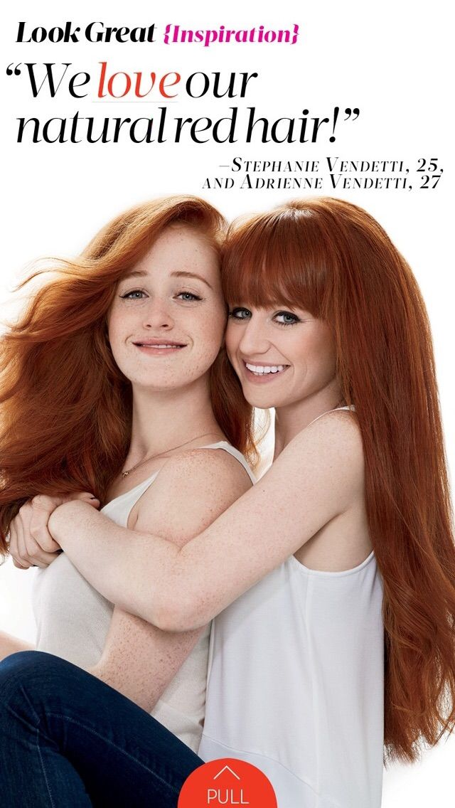 We love our natural red hair! Pictured: Adrienne & Stephanie Vendetti, Co-Founders of How to be a Redhead