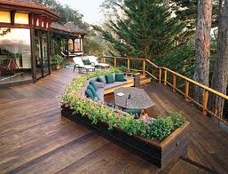 deck: Old House, Gardens Seats, Decks Ideas, Dreams, Outdoor Living, Decks Design, Patios, Decks Planters, Backyards