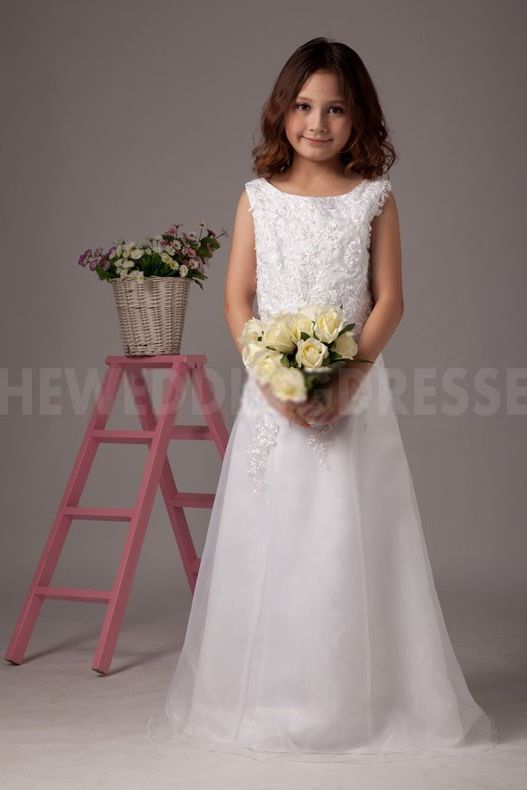 Luxury Satin Flower Girl Dresses - Order Link: http://www.theweddingdresses.com/luxury-satin-flower-girl-dresses-twdn5386.html - Embellishments: Embroidery; Length: Floor Length; Fabric: Satin; Waist: Natural - Price: 66.26USD