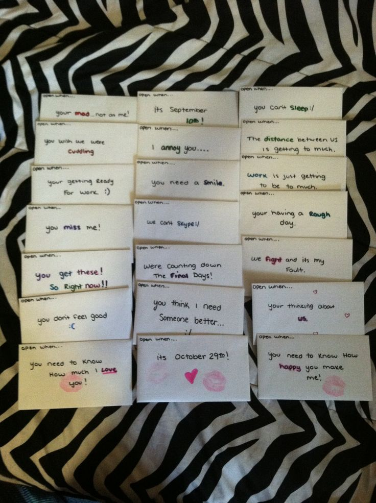 17 Open When Letters Ideas Open When Letters Open When Boyfriend Gifts