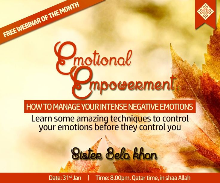 Do not forget us to join today in sha Allah   Webinar link: http://bit.ly/EmotionalEmpowermentRescheduled  To check your local time: http://bit.ly/1HciCEY  Facebook event link: https://www.facebook.com/events/1547753215504867/
