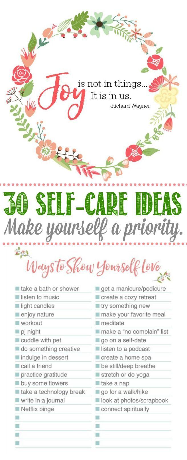 Self-Care IdeasPine Cones and Acorns Blog