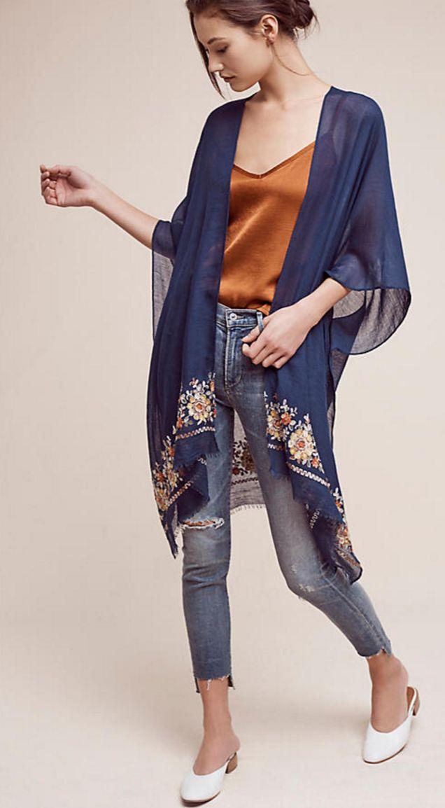Embroidered Multiway Kimono | Anthropologie